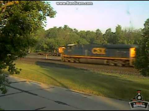 Very Short and Overpowered Intermodal Heads West at Sunrise @ Berea, OH Railcam, 5/23/13