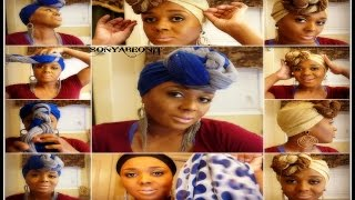 getlinkyoutube.com-Easy Step By Step Unique And Fabulous Head Scarves Designs } Quick And Easy To Do!!