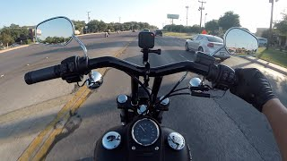 getlinkyoutube.com-Street Bob NEW T-BARS!