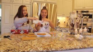 getlinkyoutube.com-Gingerbread house!!! With my sister Maddie (first day of Kenzmas!)