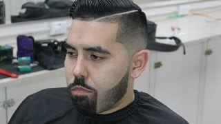 getlinkyoutube.com-Blended Beard, Bald Fade, Combover with Hard Part