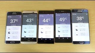 getlinkyoutube.com-Heat Test - Sony Xperia Z5 VS Note 5 VS Xperia Z3+ VS S6 Edge VS HTC M9!