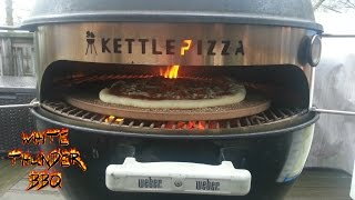 getlinkyoutube.com-4 Wood-Fired Personal Pizzas cooked in 20 minutes on the Kettlepizza- How to cook on the Kettlepizza