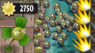 getlinkyoutube.com-Plants vs Zombies 2 - Only Blover and Springbean in Last Stand Pirate Seas Day 22
