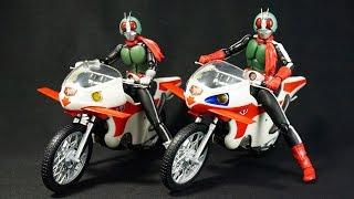 getlinkyoutube.com-S H フィギュアーツ 仮面ライダー新1号&新サイクロン号 セット+新サイクロン号+新2号 S H Figuarts Kamen Rider New 1go+2go+Cyclone