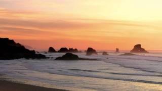 getlinkyoutube.com-1 Hour of Relaxing Ocean Waves at Sunset (HD)