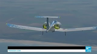 getlinkyoutube.com-Airbus electric plane makes history by successfully crossing the Channel