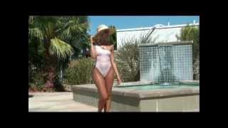 getlinkyoutube.com-Sheer Elegance, jewel accented sheer one piece swimsuit by Brigitewear