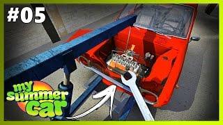 getlinkyoutube.com-MY SUMMER CAR #5 - COLOQUEI O MOTOR NO CARRO !!