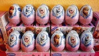 getlinkyoutube.com-24 Surprise Eggs Disney Frozen 3-D Toys 2014 Unboxing Christmas Huevos Sorpresa 겨울왕국