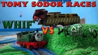 getlinkyoutube.com-Tomy Sodor Races: Whiff vs Diesel 10 Race 16