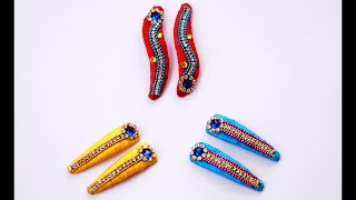 getlinkyoutube.com-Making silk thread hair clips tutorial