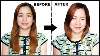 getlinkyoutube.com-TRYING HAIR HACK- FROM LONG HAIR TO SHORT HAIR WITHOUT CUTTING IT-BEAUTYKLOVE
