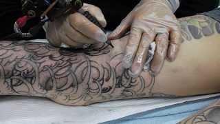 getlinkyoutube.com-horiyoshi no drow outline tattooing