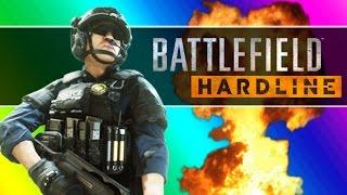 getlinkyoutube.com-Battlefield Hardline Beta Funny Moments - Following Fun, Motorcycle Friends, Climbing Up The Crane!