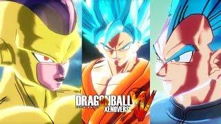 getlinkyoutube.com-Dragon Ball: Xenoverse - Revival of F - Golden Frieza vs SSGSS Goku vs SSGSS Vegeta