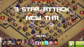 getlinkyoutube.com-3 Star Attack on TH11 with Grand Warden and Eagle Artillery Defense