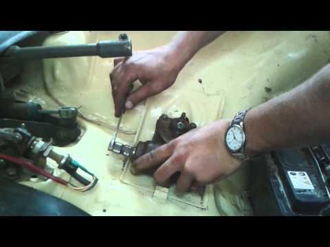 Снятие рулевого редуктора с сошкой ЗАЗ968м