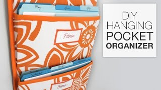 getlinkyoutube.com-How to Make a Hanging Pocket Organizer