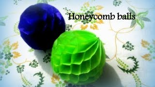 getlinkyoutube.com-DIY Paper Crafts :: How to Make Honeycomb Pom Pom - Innovative arts