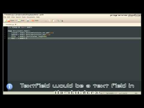 Full Web Framework Python Django Tutorial VII Blog - Create First Model - Linux/Ubuntu/Windows