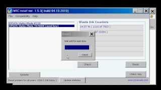 getlinkyoutube.com-Reset contatori tampone stampanti epson WIC utility Reset Waste Ink counters