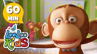 getlinkyoutube.com-Five Little Monkeys - Amazing Songs for Children | LooLoo Kids