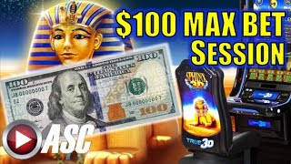 getlinkyoutube.com-*$100 MAX BET SESSION* SPHINX 3D Slot Machine Bonus (Spielo)