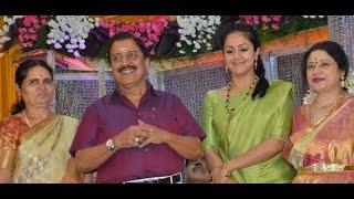 getlinkyoutube.com-Sivakumar, Jyothika attend Jayachitra's Son Amresh Wedding Reception