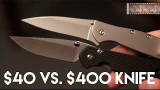 getlinkyoutube.com-$40 vs. $400 Knife: What's the Difference? Kershaw Leek & Chris Reeve Sebenza Knife Art 21