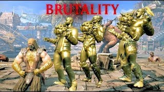 getlinkyoutube.com-Mortal Kombat XL Tremors Gold Statue Brutality on All DLC Characters