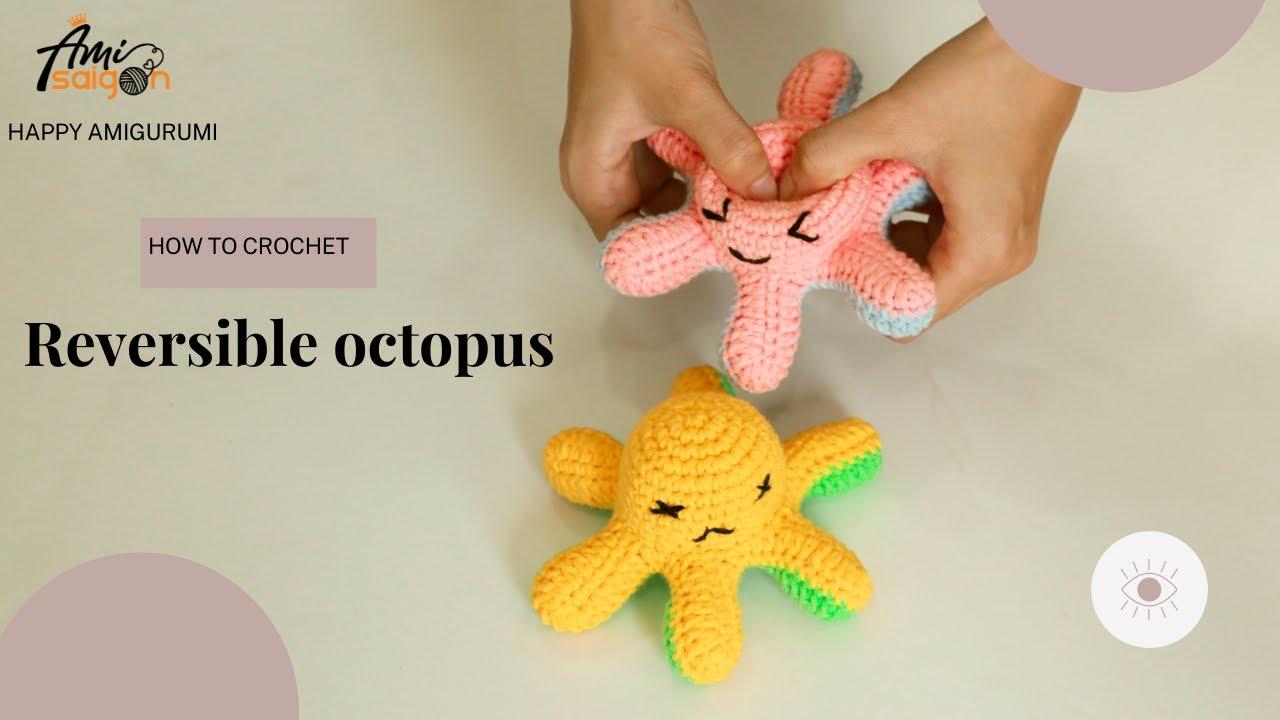 Reversible Octopus crochet pattern by Amivui Studio channel