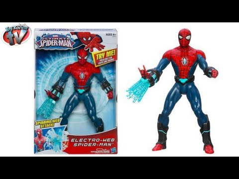 Hasbro Ultimate Spider-Man Electro-Web Spider-Man Action Figure Toy Review
