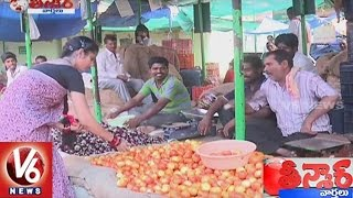 getlinkyoutube.com-Sujatha Funny Conversation With Savitri Over Hike On Vegetable Prices  || Teenmaar News || V6 News