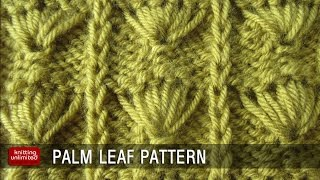 getlinkyoutube.com-Palm Leaf Knitting pattern