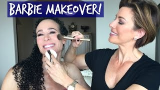 getlinkyoutube.com-Full Makeup Makeover With Menopause Barbie!