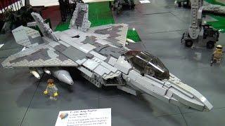 getlinkyoutube.com-Awesome LEGO military airplanes, helicopters – BrickFair Virginia 2015