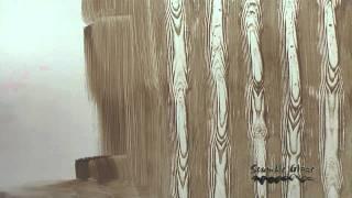 getlinkyoutube.com-VESALUX Acrylic Scumble Glaze | Faux Wood Grain