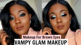 getlinkyoutube.com-Vampy Glam Makeup Tutorial 2017 | MAKEUP FOR BROWN EYES