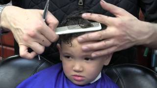 getlinkyoutube.com-Best Kid's Haircut of 2017: Comb Over with a Hard Part