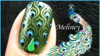 getlinkyoutube.com-KONAD STAMPING NAIL ART | EMERALD PEACOCK NAILS DESIGN - Green Tutorial Fashion Easy Simple