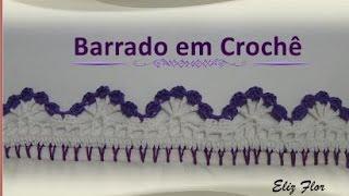 getlinkyoutube.com-Barrado em crochê para pano de prato fácil *modelo 62*