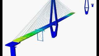 getlinkyoutube.com-Construction stage analysis of cable stayed bridge 1