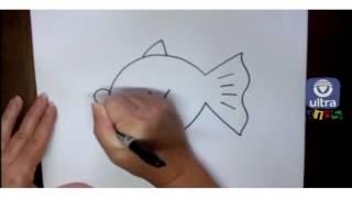 getlinkyoutube.com-Como dibujar un pez de caricatura