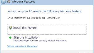 حل مشكلة .NET Framework 3.5 فى 8 Windows