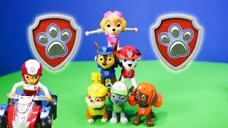 getlinkyoutube.com-PAW PATROL Nickelodeon Paw Patrol Action Pack Rescue Team  Toys Video Unboxing