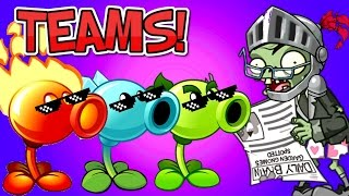 getlinkyoutube.com-TEAMS Plants vs. Zombies 2 vs Newspaper Zombie