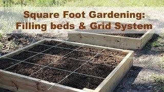 getlinkyoutube.com-Raised Garden Bed- Filling and Grid Tutorial- Square Foot Gardening