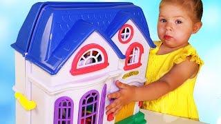 getlinkyoutube.com-✿ КУКОЛЬНЫЙ ДОМИК My Happy Family Волшебный Мир Игры для Девочек Dollhouse Тoys for Girls Unboxing