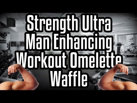 Strength Ultra Man Enhancing Workout Omelette Waffle - Epic Meal Time